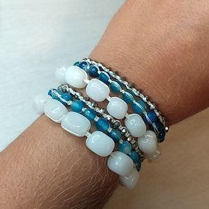 Genuine Semi Precious Stone Wrap Bracelets